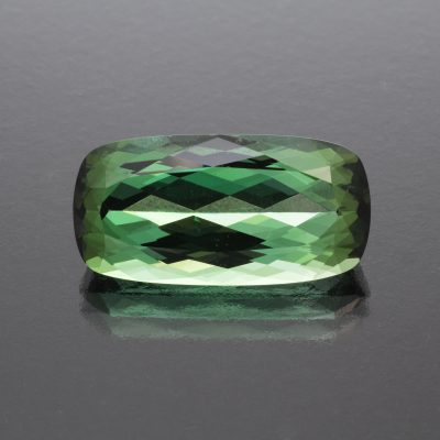 Bicolor tourmaline cushion 17.95 cts by Caram_front view