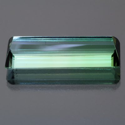 Bicolour tourmaline baguette 27.71 cts by Caram_back view