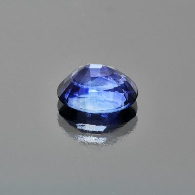 Blue sapphire oval by Caram_back view