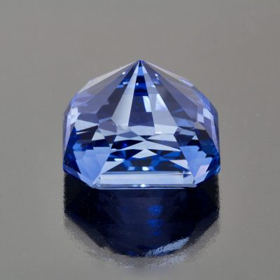 Sapphire octagon radiant cut by Caram_back view