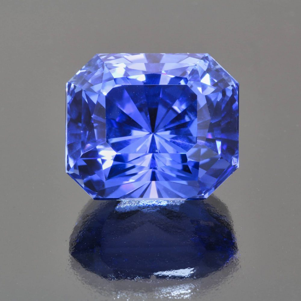 Sapphire octagon radiant cut by Caram_front view