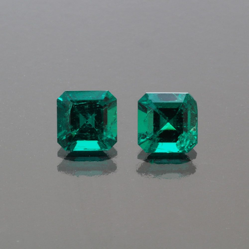Emerald octagon Pair 2.45 cts Muzo Colombia by Caram_back view.jpg