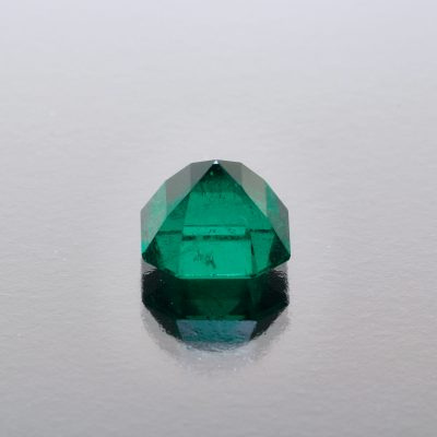 Fine Muzo Colombian emerald octagon by Caram_back view