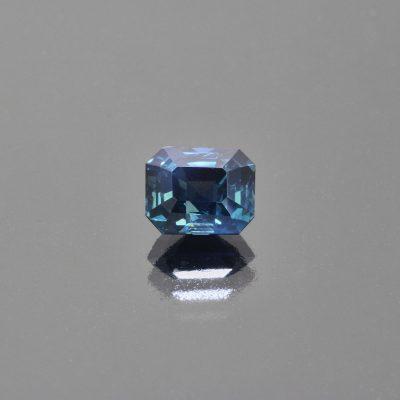 Indigo teal sapphire octagon