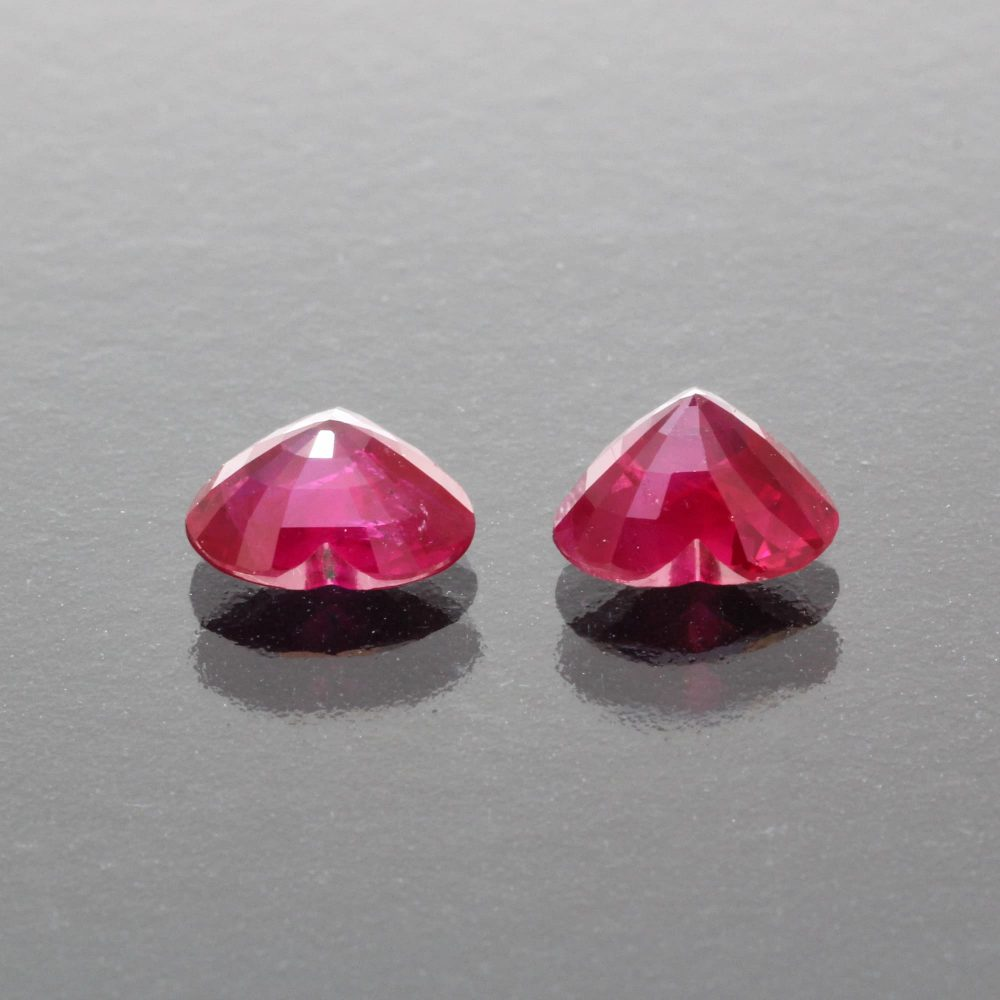 Pair of burmese ruby hearts by Caram_back view
