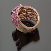 Pink sapphire cushion ring unheated by Caram_back