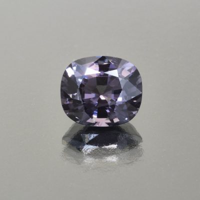 Purplish grey spinel coushion 4.45 cts by Caram_front view