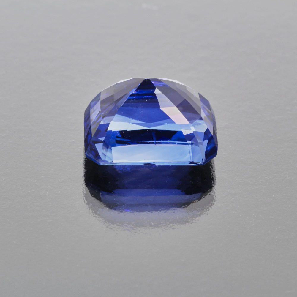 Royal blue sapphire octagon by Caram_back view