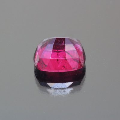 Rubelite cushion 9.54 cts by Caram_back view