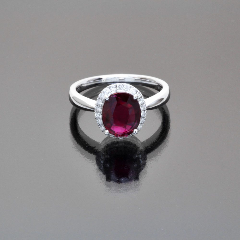 Thai ruby oval ring by Caram