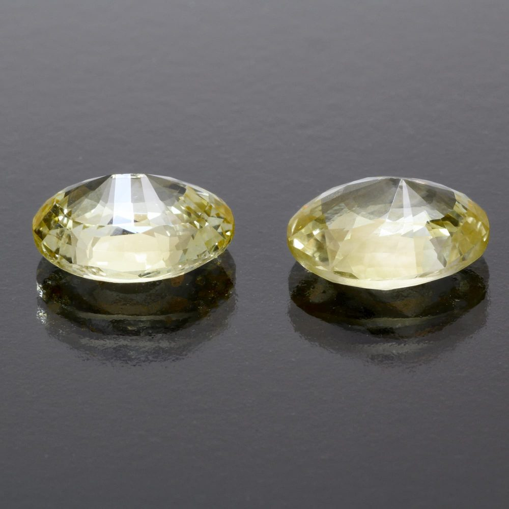 Yellow sapphire oval pai 11 cts Caram_back view