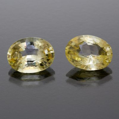 Yellow sapphire oval pai 11 cts Caram_front view