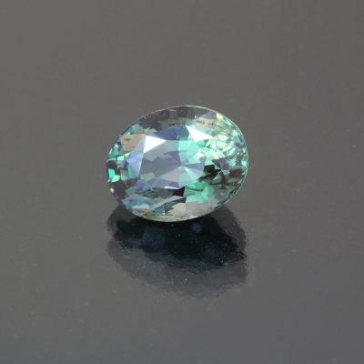 Alexandrite oval 3.1 cts by Caram_front view_blue