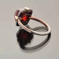 Burma spinel sugar loaf ring by Caram_back view