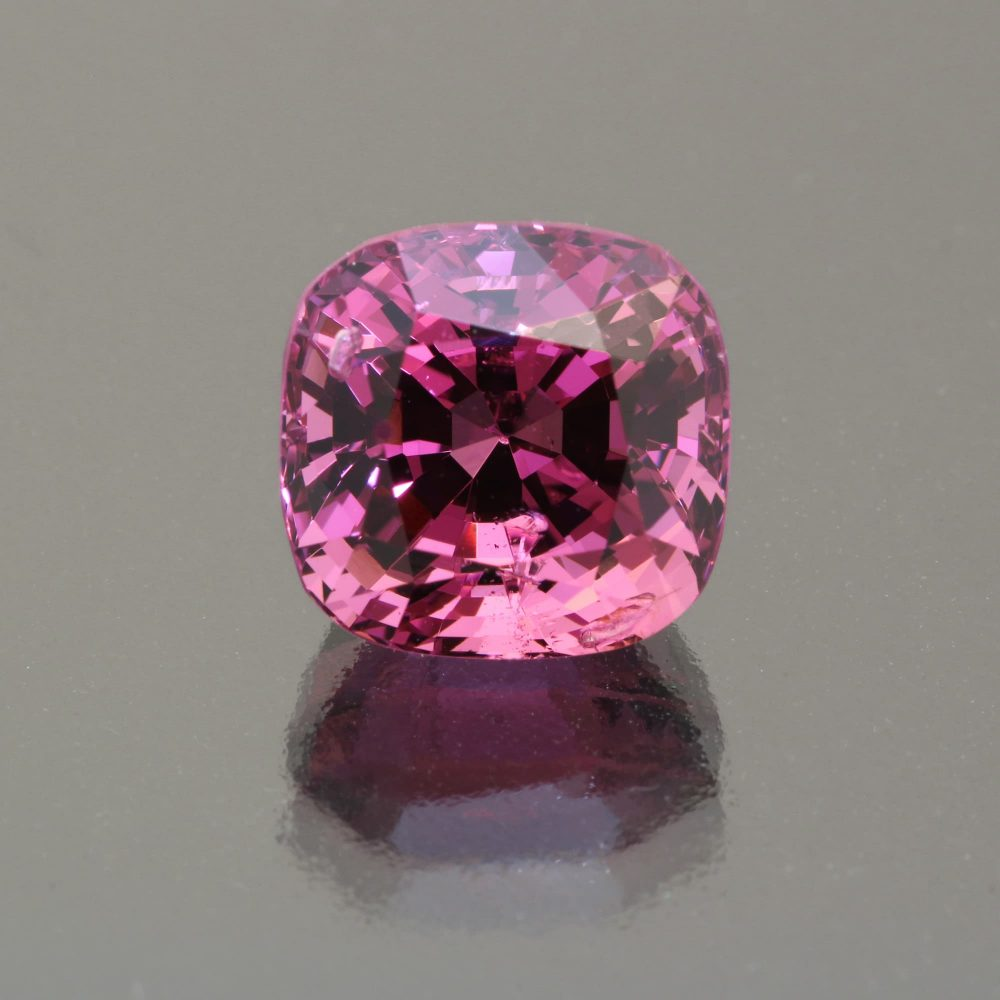 Spinel cushion 7.85 cts_Burma_by Caram_front view